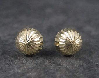 Vintage 14K Starburst Dome Studs Earrings