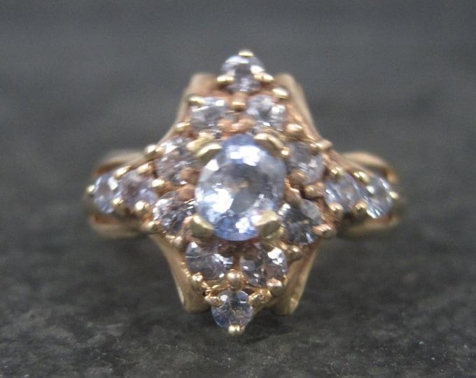 Vintage 10K Light Blue Sapphire Ring Size 6.5