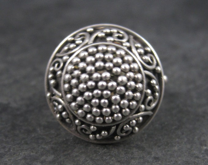 Vintage Balinese Sterling Dome Ring Size 6