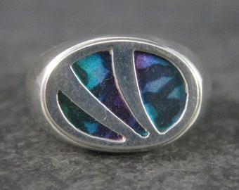 Mens Vintage Sterling Blue Purple Illusion Ring Size 10