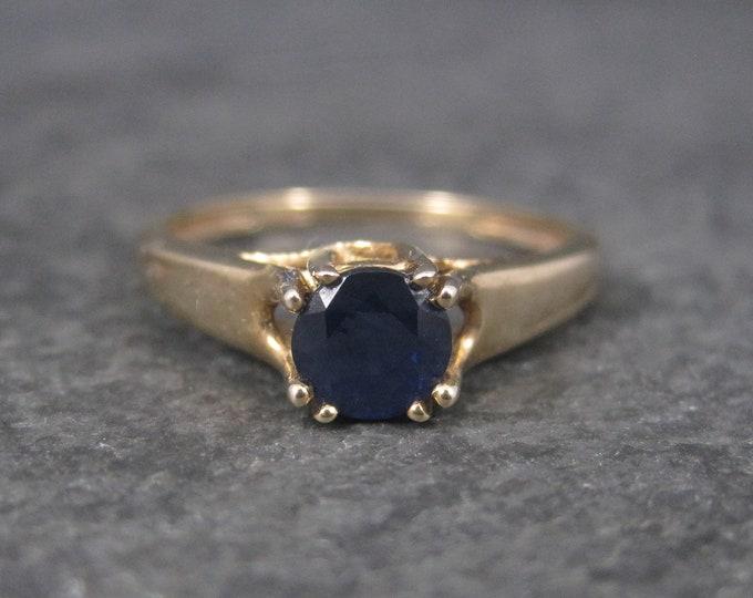 Vintage 10K .50 Carat Sapphire Engagement Ring Size 6.25