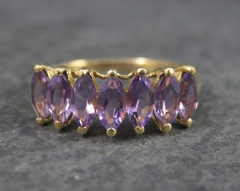 10K Amethyst Ring Yellow Gold Size 10 Clyde Duneier