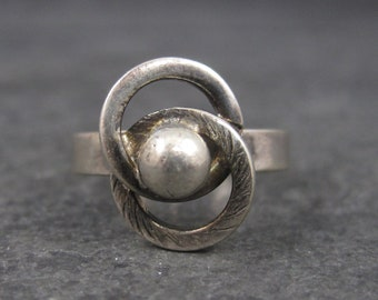 Vintage Sterling Love Knot Ring Adjustable Size 5 to 7