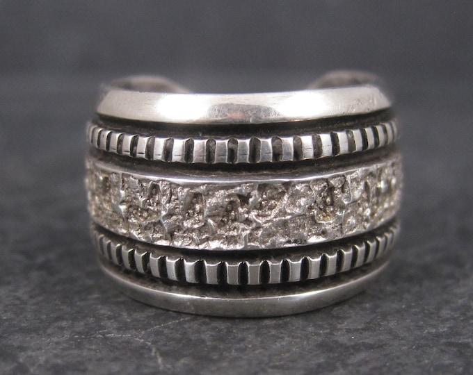 Mens Vintage Navajo Sterling Band Ring Philbert Begay Size 9