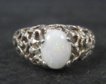 Vintage Sterling Opal Ring Size 8.5