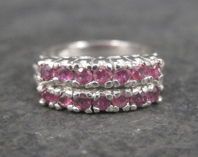 Vintage Sterling Ruby Ring Size 5