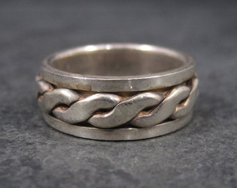 Vintage 90s Spinner Band Ring Sterling Size 7