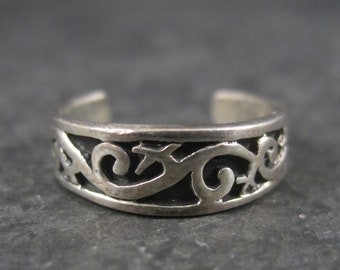 90s Sterling Scrolling Toe Ring