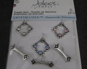 Jolees Swarovski Elements Toggle Clasps Set of 3