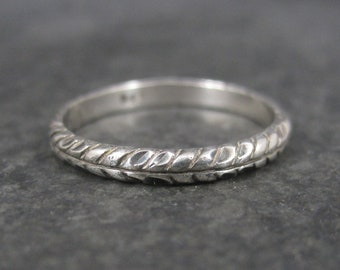 Vintage Diamond Cut Sterling Wheat Style Band Ring Size 7