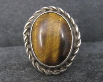 Vintage Southwestern Sterling Tigers Eye Ring Size 6