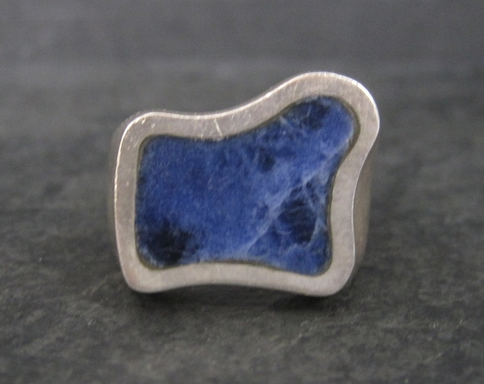 Heavy Mexican Sterling Sodalite Ring Size 9.5