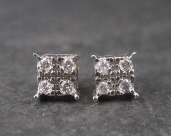 Vintage 10K .08 Carat Diamond Stud Earrings