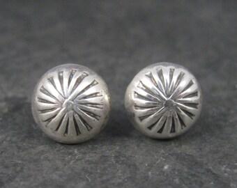 Vintage Southwestern Sterling Dome Stud Earrings