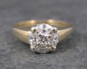 Vintage 14K .50 Carat Diamond Engagement Ring Size 5 3/4