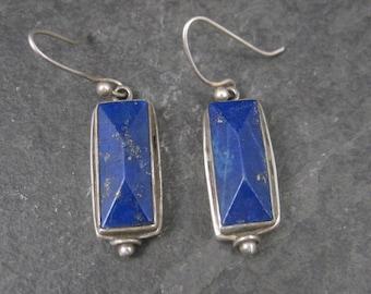 Vintage Sterling Lapis Lazuli Earrings