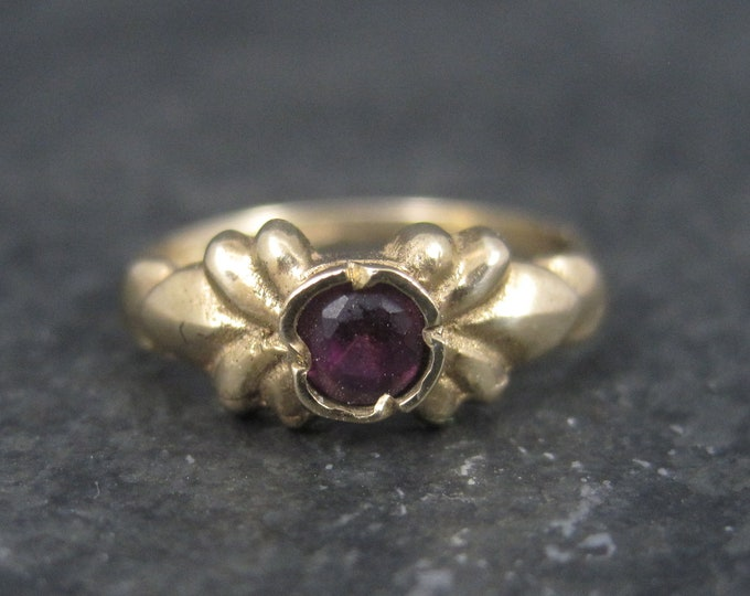 Antique 10K Amethyst Baby Ring Size 2.5