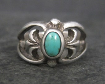 Vintage Southwestern Sterling Turquoise Ring Size 5
