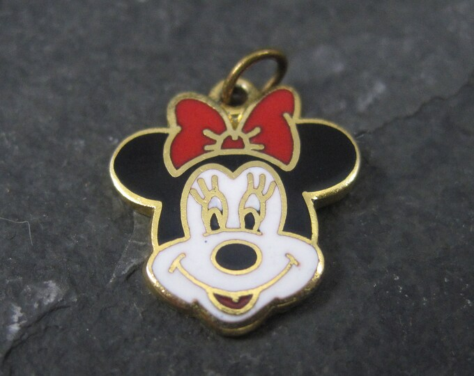 Vintage Enamel Minnie Mouse Charm Licensed Disney