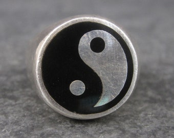 Vintage Mexican Sterling Yin Yang Ring Size 5