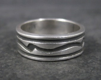Vintage Sterling Tribal Band Ring Size 8