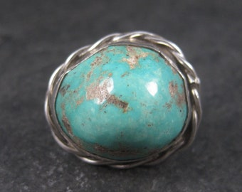Large Vintage Native American Sterling Turquoise Tie Tack