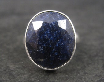 Vintage Sterling Sapphire RIng Size 6.25