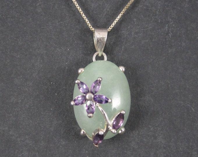 Aventurine Amethyst Heart Pendant Necklace Goldstone Jewelry Company