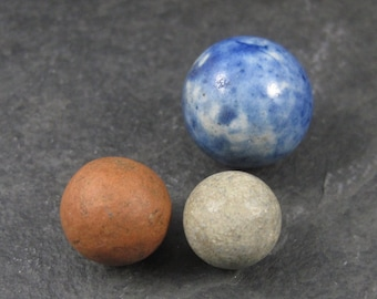 Lot of 3 Antique Marbles