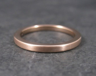 Old New 2mm Rose Tungsten Band Ring