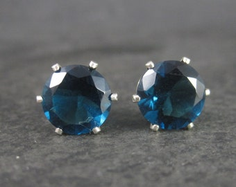 September Birthstone Sterling Stud Earrings 10mm