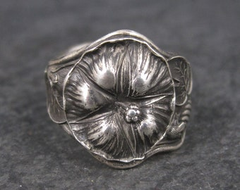 Vintage Manchester Floral Spoon Ring Sterling Size 5