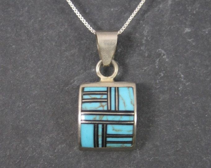 Vintage Southwestern Turquoise Inlay Pendant