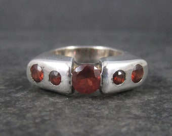 Vintage Rubellite Tourmaline Ring Sterling Size 7