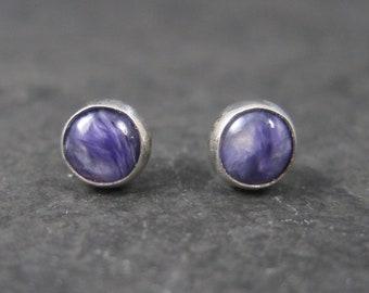 Vintage Southwestern Amethyst Stud Earrings