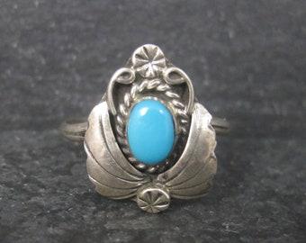 Dainty Vintage Southwestern Turquoise Ring Size 6
