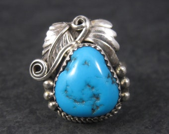 Vintage Navajo Turquoise Ring Size 9
