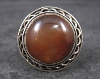 Large Vintage Rutilated Quartz Ring Sterling Size 8