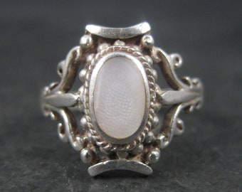 Vintage Sterling Mother of Pearl Ring Size 8.75