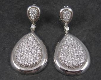 Vintage Sterling Cubic Zirconia Statement Earrings