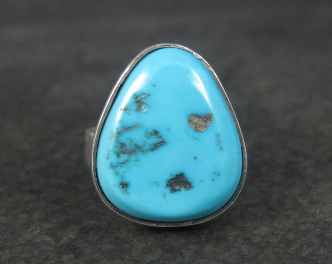 Chunky Vintage Sleeping Beauty Turquoise Ring Size 7
