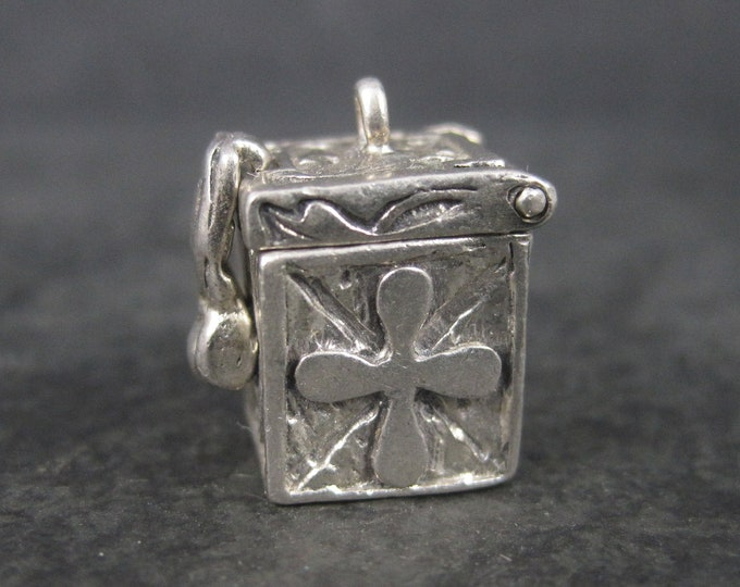 Vintage Sterling Prayer Box Pendant