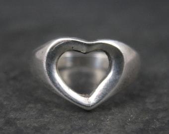 Vintage Sterling Heart Ring Size 8.25