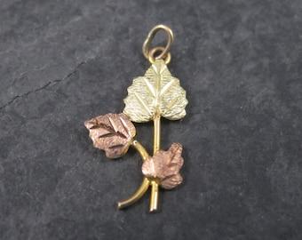 Dainty Vintage 10K Black Hills Gold Pendant Charm