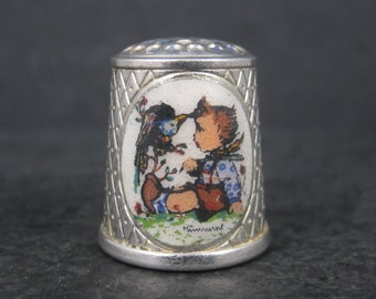 Vintage 1984 Versilbert West German Limited Edition Silver Plated Hummel Thimble