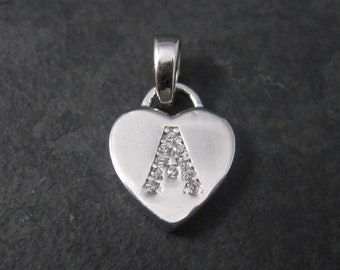 Small Sterling Silver Initial A Pendant