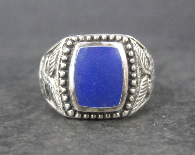 Mens Vintage Sterling Lapis Lazuli Eagle Ring Size 13
