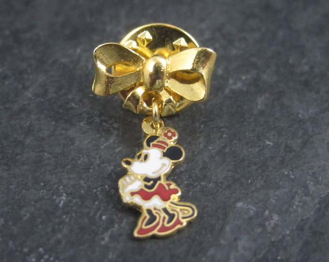 Vintage Licensed Disney Enamel Minnie Mouse Lapel Pin