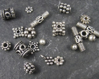 Mixed Lot of Sterling Silver Beads 8.9 Grams