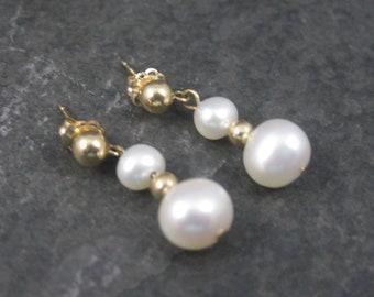 Vintage 14K Pearl Earrings